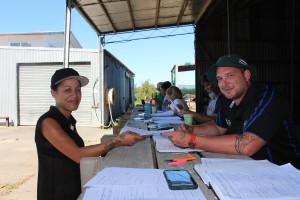 Flaxmere woman Te Aroha Toa Toa signs up